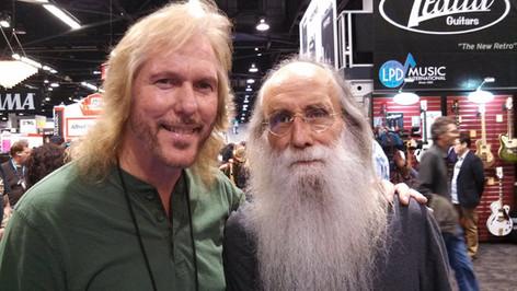 Jim W with Bass Legend Leland Sklar.