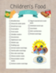 children's food list