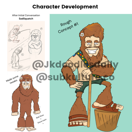 Scout Squatch Character Development