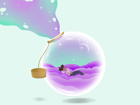 A girl in her bubble