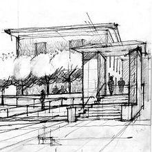 Sketch of cottage renovations