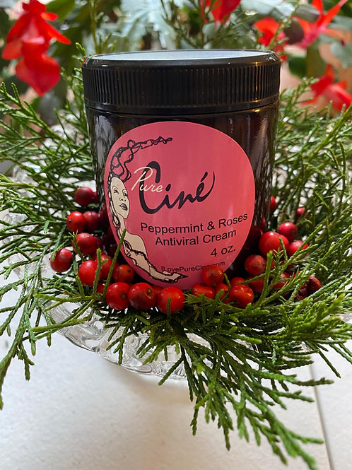 Peppermint and Roses Shea Butter Anti-Viral Cream