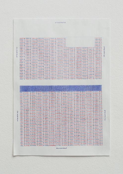 מיכפל 2016 עפרונות צבעוניים על נייר 30X2