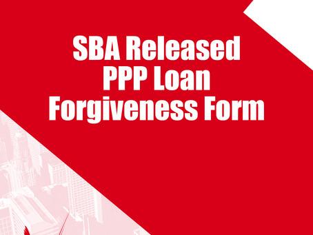 SBA Released PPP LOan Forgiveness Form