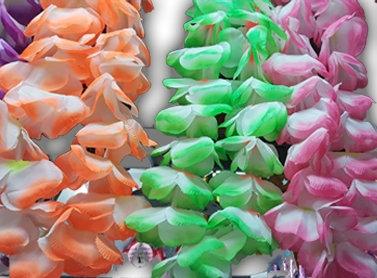 שרשראות הוואי בצבעים שונים
