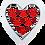 Thumbnail: מסגרת עץ לתלייה בצורת לב עם אטבים