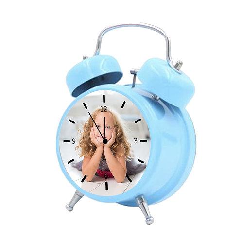 שעון מעורר בעיצוב אישי בצבע תכלת