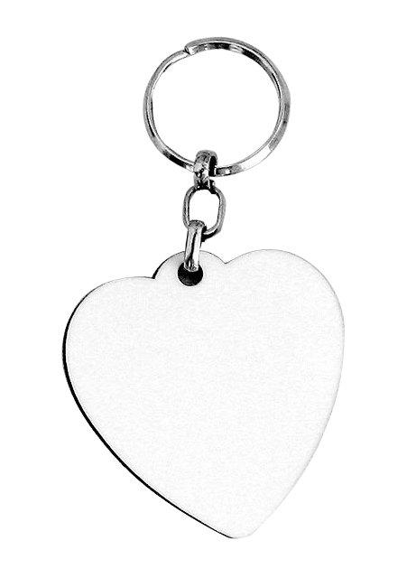 מחזיק מפתחות דו צדדי מודפס צורת לב
