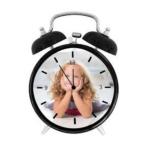 שעון מעורר בעיצוב אישי בצבע שחור