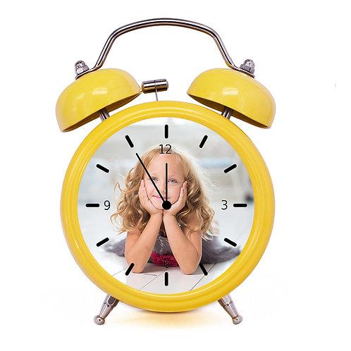 שעון מעורר בעיצוב אישי בצבע צהוב
