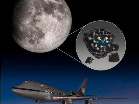 Água na região clara da Lua