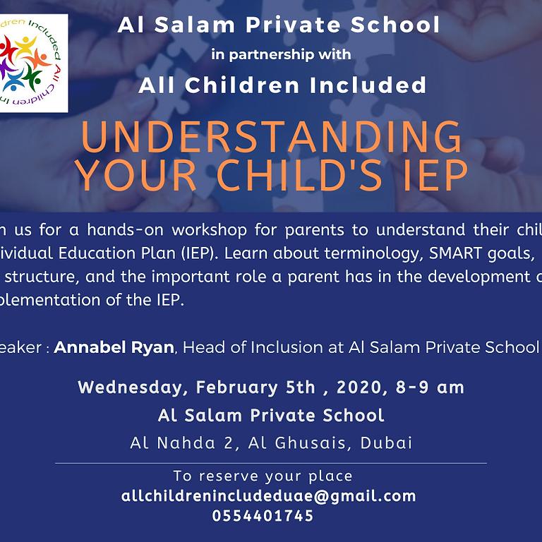Understand your child's IEP