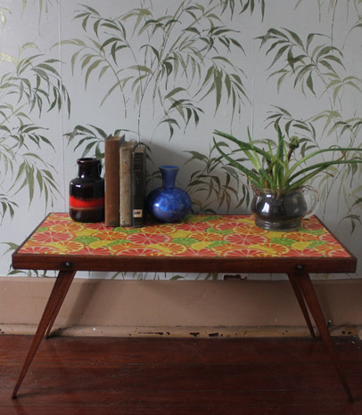 SOLD - Citrus Folding Side Table
