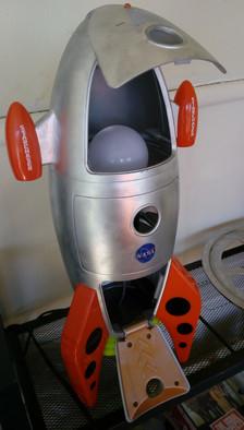 SOLD - Rocketship Lamp