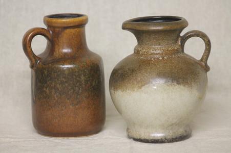 West German Pottery Jugs - $35 each