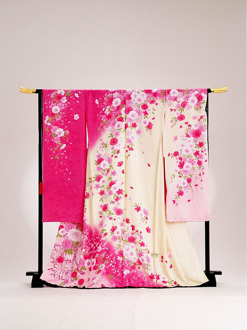 FURISODE (PINK LIGHT YELLOW)