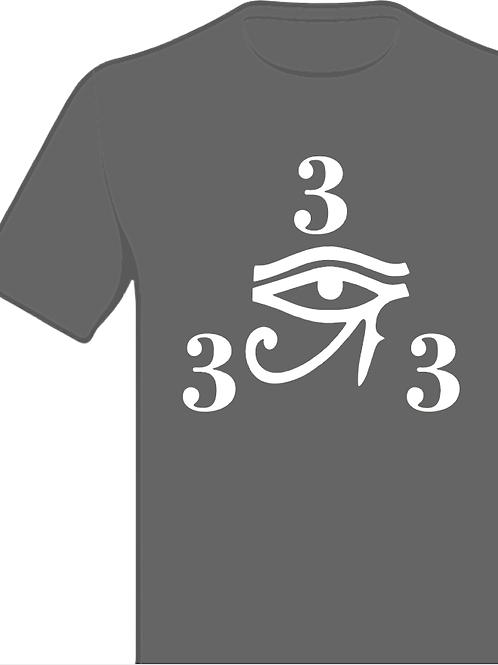 333 Gray and White Shirt