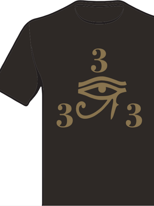 333 Black and Gold Shirt