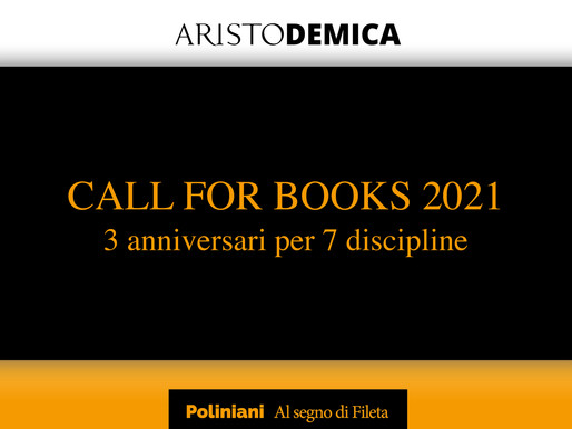 "Dante, Venezia, Napoleone e la ""Call for Books"" 2021"
