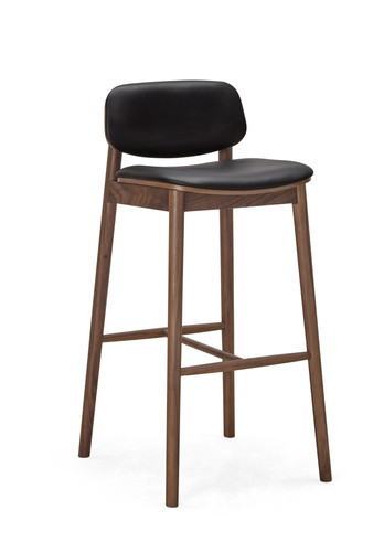 30015-001 Lando BarStoolWBackrest Walnut