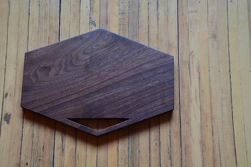 GeoMetric Black Walnut Serving Board