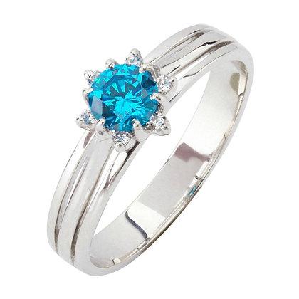 Кольцо с топазом и бриллиантами Цена 7 900 грн
