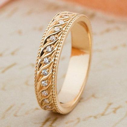 Обручальное кольцо 016-2  Цена 7 400 грн