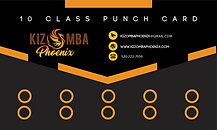 Kizomba PHoenix 10 Class Punch Card SMAL
