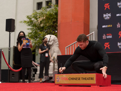 HollyGold Sponsors Boxing Champ Canelo Alvarez Handprint Ceremony at TCL Chinese Theatre