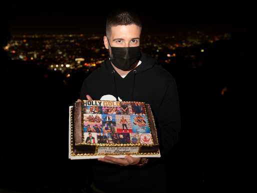 Jersey Shore's Vinny Guadagnino Celebrates His Birthday with HollyGold