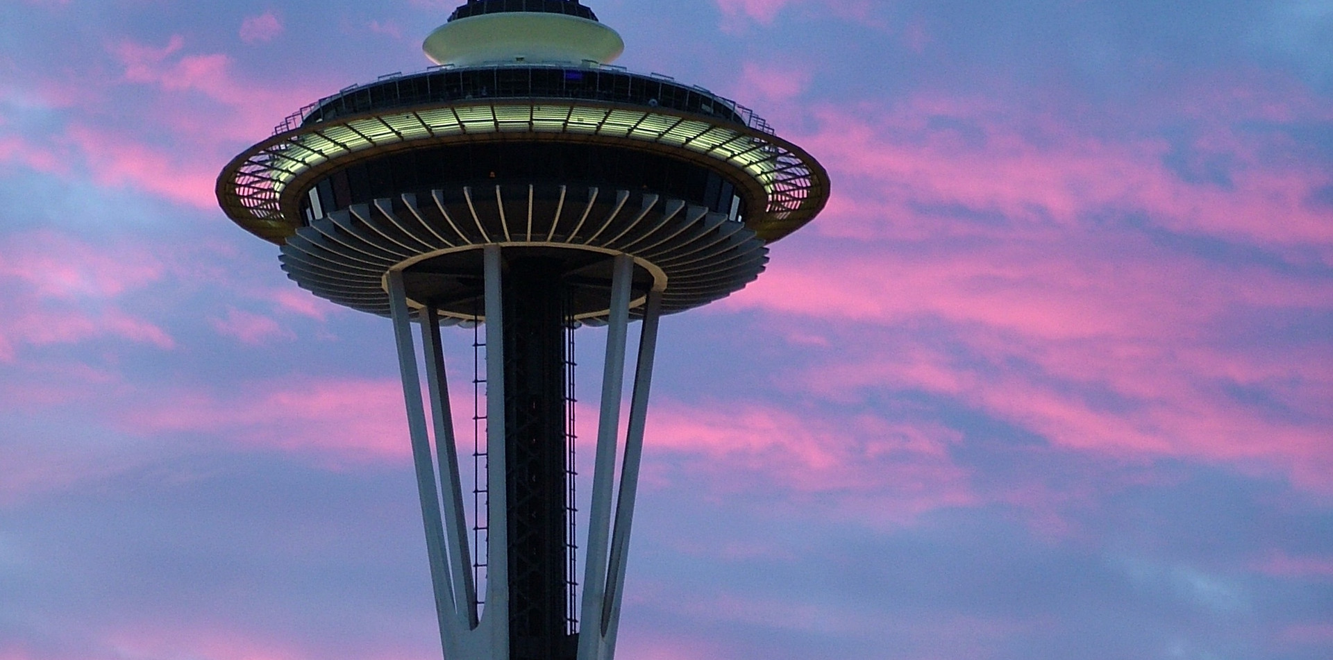 Space Needle at sunset