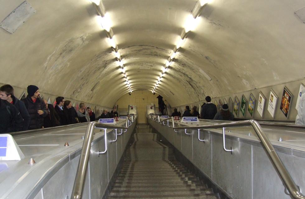 Heading down the tube