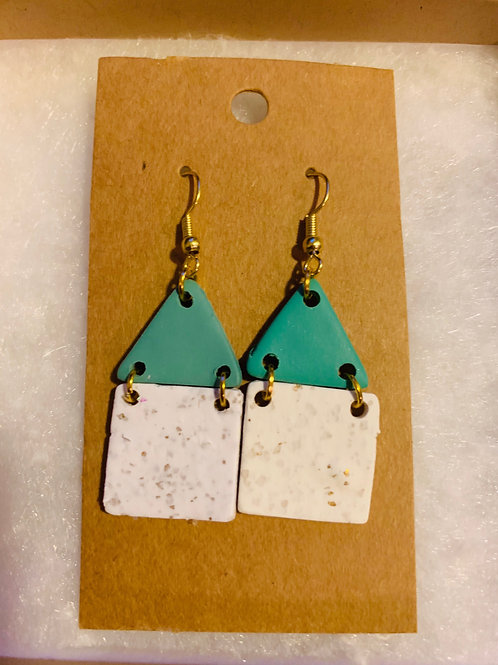 Aqua Sojourn House Earrings
