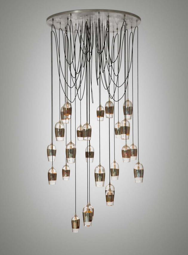 Mirrored Pendant Chandelier