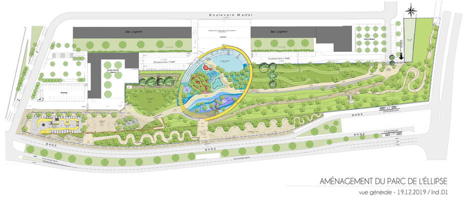 NAOM aménage la Plaine des Loisirs & des Sports dans le quartier de la Busserine - Marseille 14e