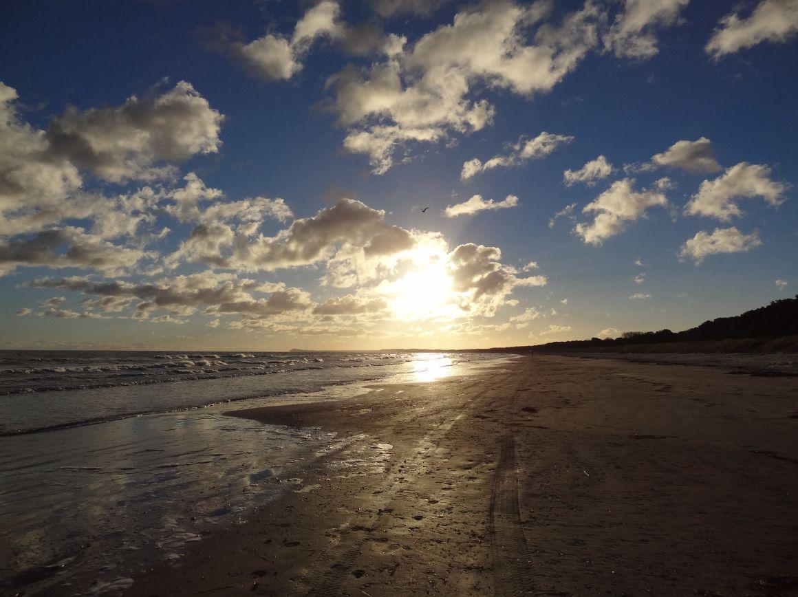 Morgens am Strand