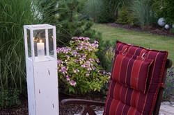 Gartenidylle am Abend