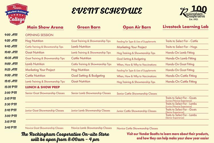 Market Animal College Event Schedule-202