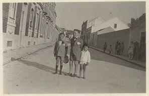 Os primos na ruas do Centro Histórico de Palmela.