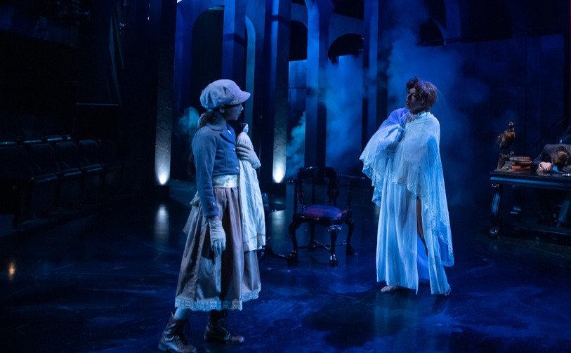 Sarah Bock in Dracula at Triad Stage.