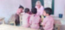 Carol and her pre-school class