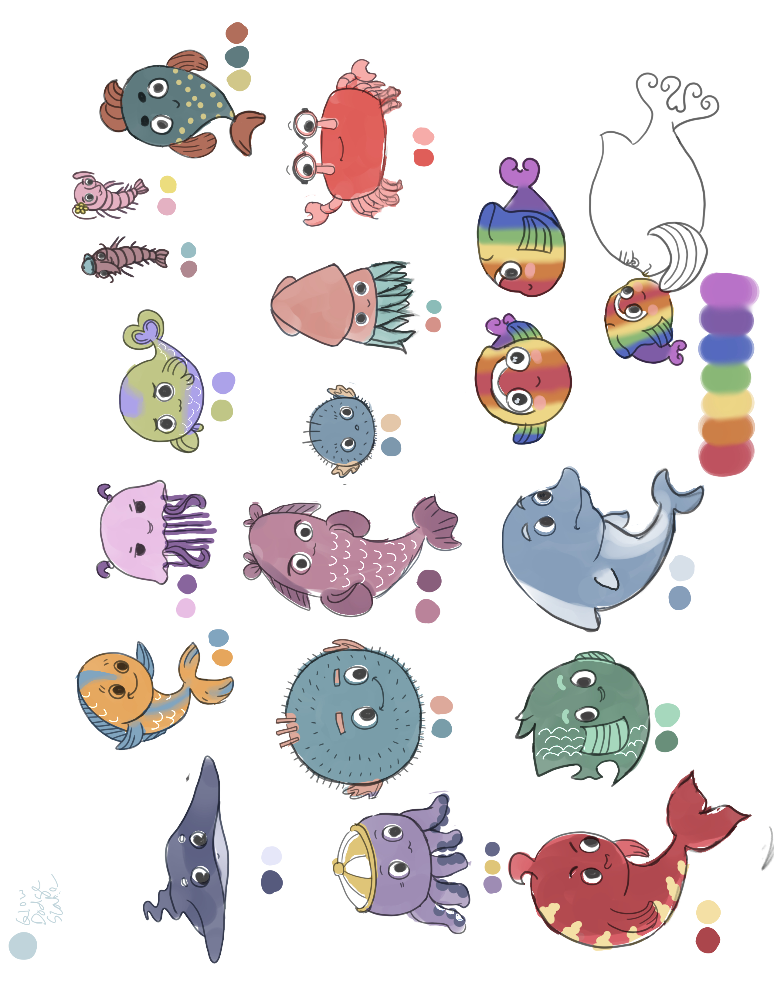 character designs for children's book