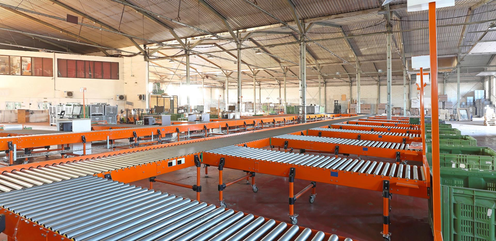 Roller Conveyors Warehouse