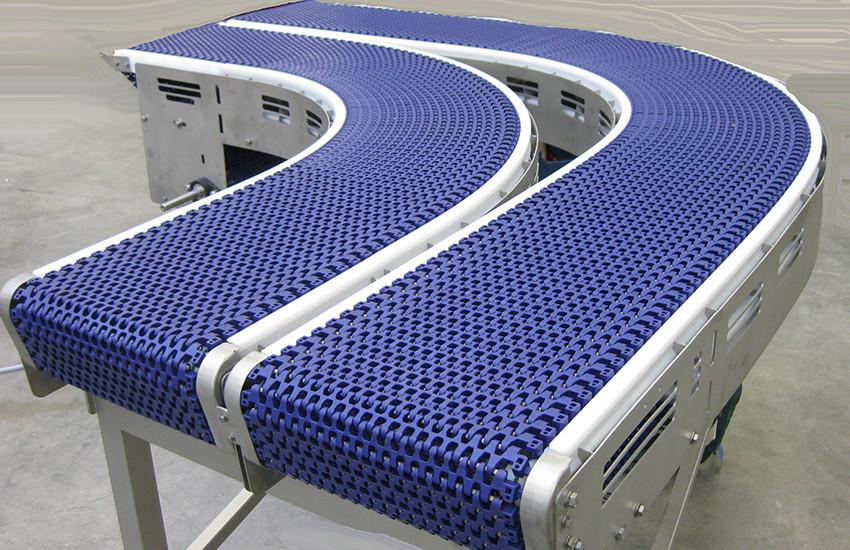 Multiple Modular Radial Conveyor Belts