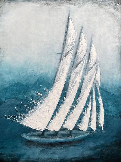 Adventure | Sailing Boat - Ship Art | Contemporary Wall Art