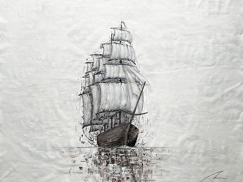 A New Beginning - Classic Tall Ship -  Marine Art (extra large painting)