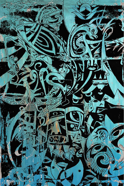 Zamin | High Quality Print on Canvas | Extra Large Wall Art 150x250cm (60x98 in)
