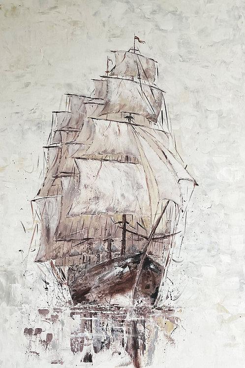 Amerigo Vespucci, Pommern ( 1903 ) - Abstract Art 'Tall Sailing Ships'