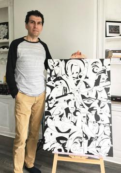 Contemporary artist Koorosh Nejad