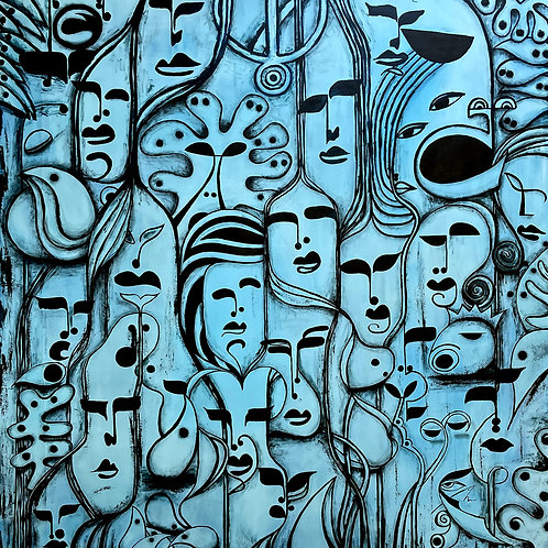 The Roots   Modern Art   Contemporary Large Wall Art